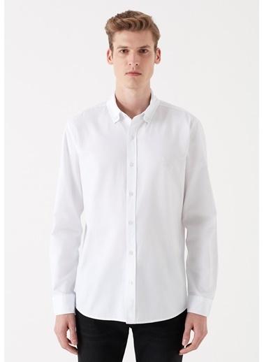 Mavi Erkek  Fitted Basic Gömlek 020033-620 Beyaz